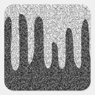 Decorative texture square sticker