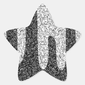 Decorative texture star sticker