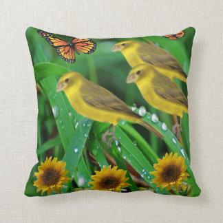 Decorative throw pillow wildlife bird