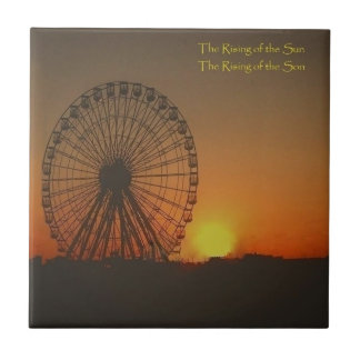 Decorative Tile - Ferris Wheel at sunrise