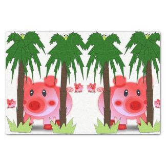 Decorative tissue paper pink pigs