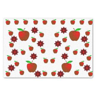 Decorative tissue paper red apples