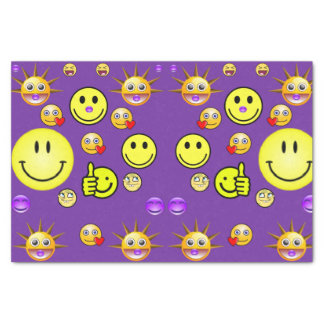 Decorative tissue paper smiley faces