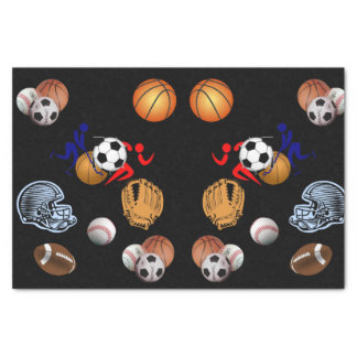 Decorative tissue paper sports