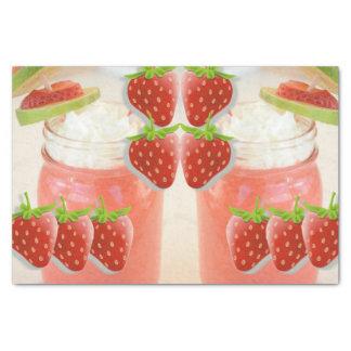 Decorative tissue paper strawberry daquirri