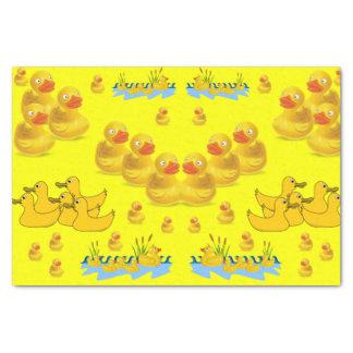 Decorative tissue paper yellow ducks
