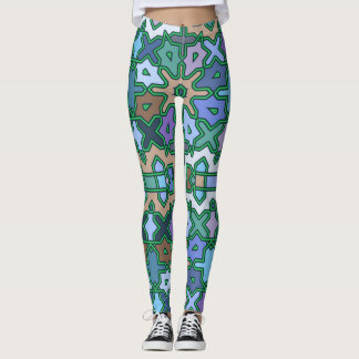 Decorative tribal arab patterns leggings