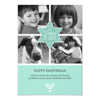 Decorative Typography Star of David Hanukkah Card