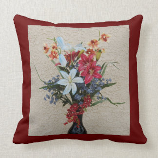 Decorative Vase and Flowers Pillow