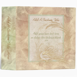 "Decorative Vintage Bird 2"" Binder"