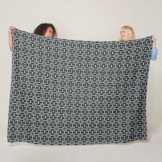 Decorative Vintage Silver Fox Woven Satin Pattern Fleece Blanket
