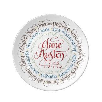 Decorative Wall Plate - Jane Austen Period Dramas