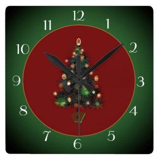 Decorative XmasTree Red /Green> Xmas Clock