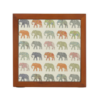 Decorator Elephant Trendy Pattern Desk Organizer