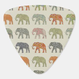 Decorator Elephant Trendy Pattern Guitar Pick