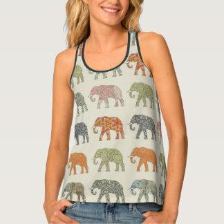 Decorator Elephant Trendy Pattern Tank Top