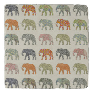 Decorator Elephant Trendy Pattern Trivet