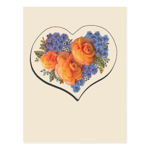Decoupage Love Heart-1 Post Card