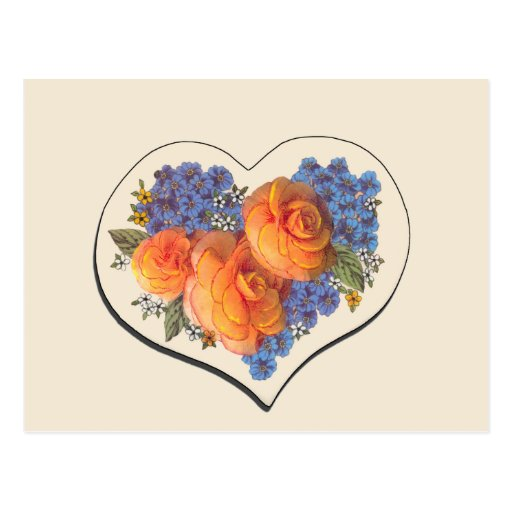 Decoupage Love Heart-1 Post Cards