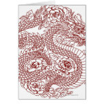 Decoupage of a Chinese dragon Card