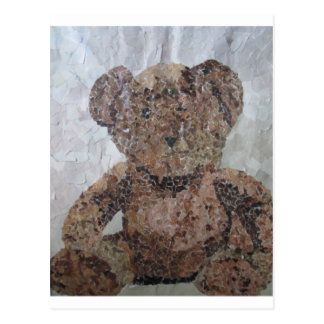 Decoupage Ted Postcard
