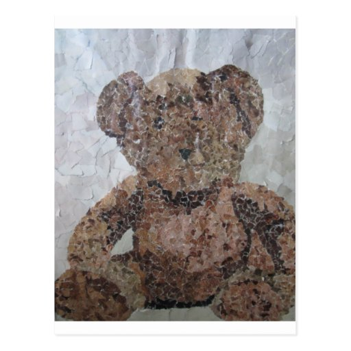 Decoupage Ted Post Card
