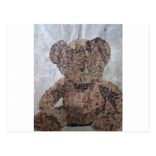 Decoupage Ted Postcard