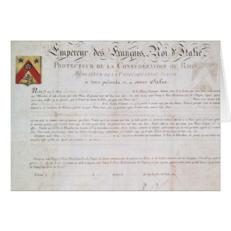 Decree of nobility created under the First Card