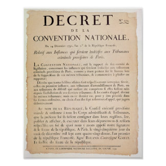 Decree of the National Convention Poster