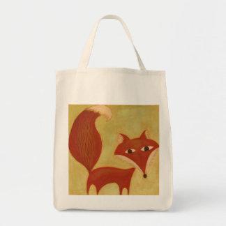 Décrivez un sac d'épicerie organique de Fox de