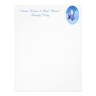 Ded Moros and birds in winter forest russian style Letterhead