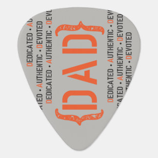 Dedicated DAD Orange and Black Guitar Pick