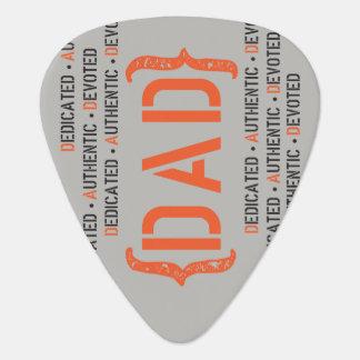 Dedicated DAD Orange and Black Guitar Pick
