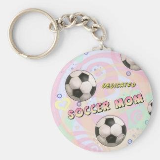 Dedicated Soccer Mom  Keychain