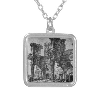 Dedicatory letter in italics italics silver plated necklace