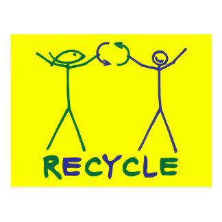Deed Doer & Anita Deed Recycle Postcard