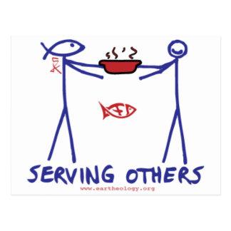 Deed Doer & Anita Deed Serving Others Postcard