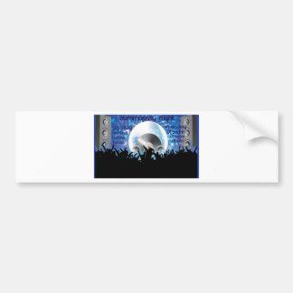 Deejay club vector design bumper stickers