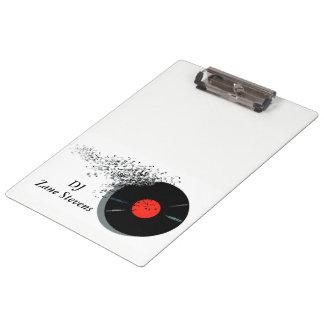 DeeJay DJ Disc Jockey Vinyl Record Clipboard