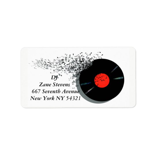 DeeJay DJ Disc Jockey Vinyl Record Label