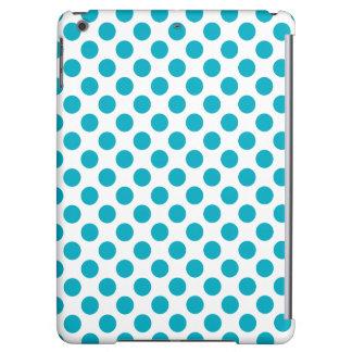 Deep Aqua Polka Dots iPad Air Covers