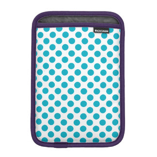 Deep Aqua Polka Dots iPad Mini Sleeve