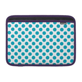 Deep Aqua Polka Dots MacBook Sleeve
