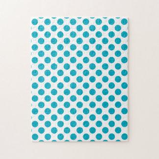 Deep Aqua Polka Dots Puzzle