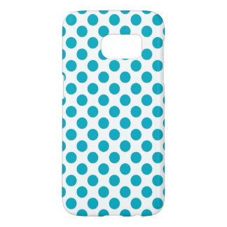 Deep Aqua Polka Dots Samsung Galaxy S7 Case