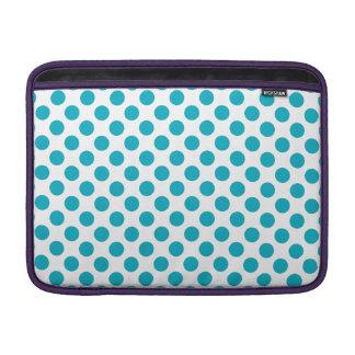 Deep Aqua Polka Dots Sleeve For MacBook Air