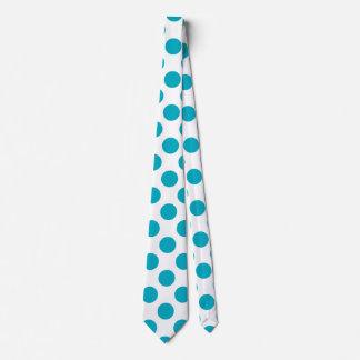Deep Aqua Polka Dots Tie