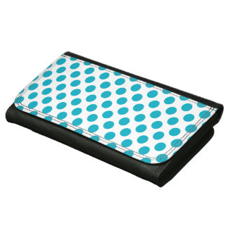Deep Aqua Polka Dots Women's Wallet