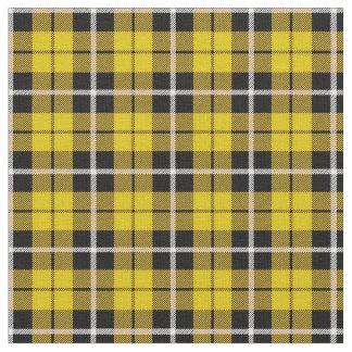 Deep Autumn bright yellow white/black stripe Fabric