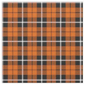 Deep Autumn orange white/black stripe Fabric